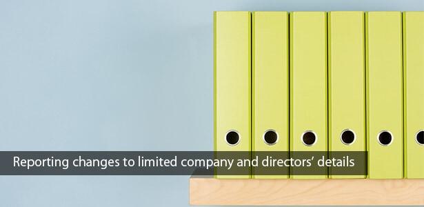 Company documents in yellow folders