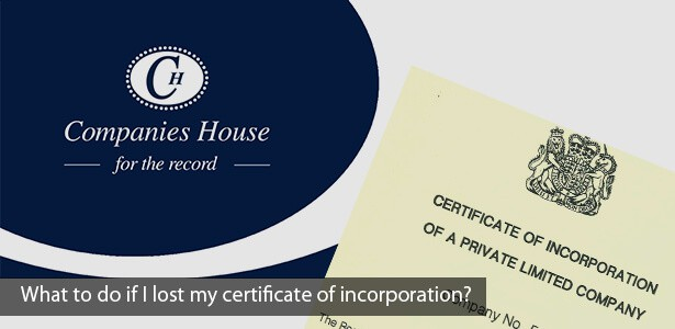 What if I lost my certificate of incorporation