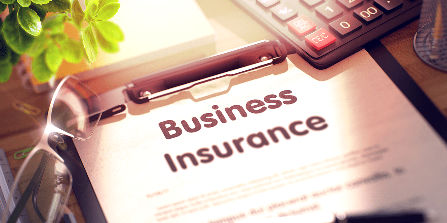 Paper with business insurance