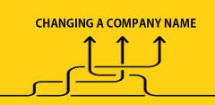 Can I change a company name?