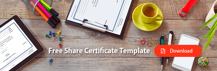What is a share certificate a free share certificate template yelopaper Image collections