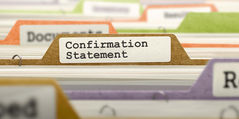 Confirmation statement paper
