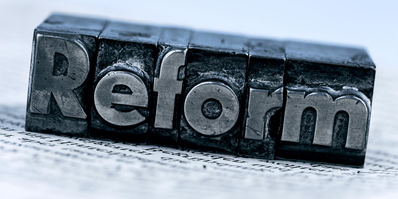 Printers typeface block displaying the name 'Reform'